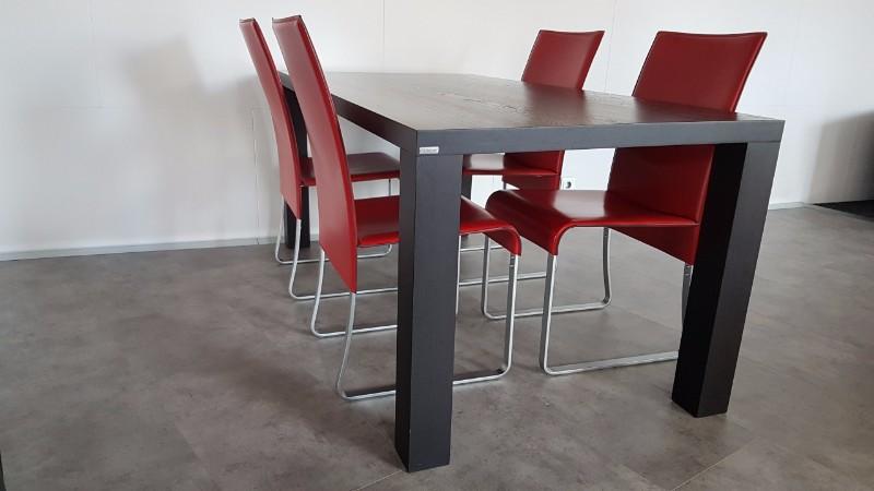 Rode Leren Relaxstoel.Collectie
