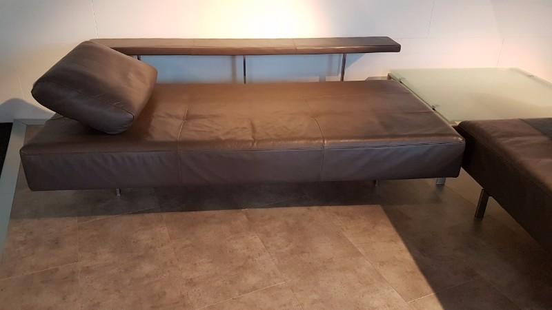 grijs bruin leren hoekbank rolf benz dono. Black Bedroom Furniture Sets. Home Design Ideas